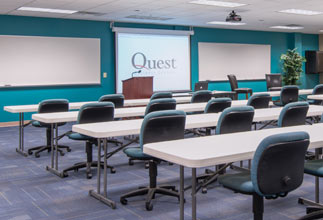 the meeting rooms at Quest can be used for almost any type of event